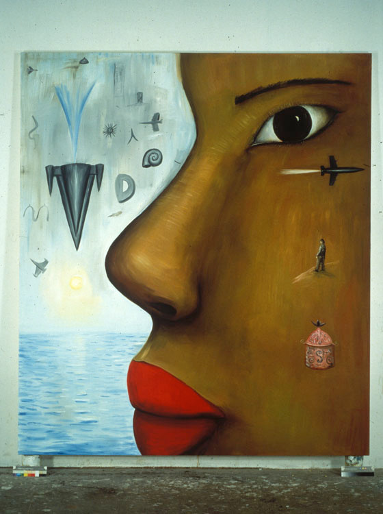 Head 244cm x 213cm Oil on Canvas 1991/2