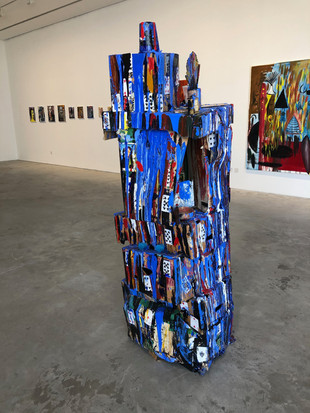 House of Cards 180cm x 60cm x 60cm Found objects cardboard and acrylic paint.2015