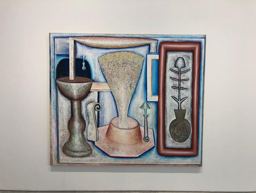 Sacred Fountain 180 x 210cm Acrylic on Canvas 1981