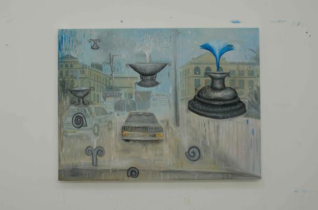 Euston Road, 90 x 120cm, Oil on canvas. 2014