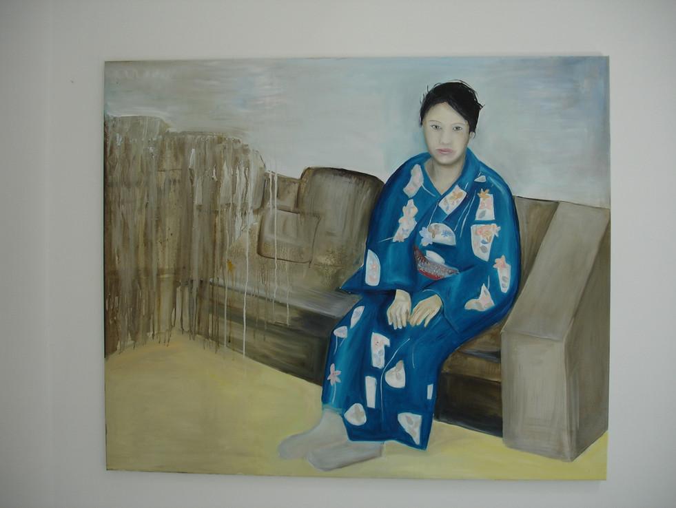 Dressed in Yukata 2010 Oil on Canvas.jpg