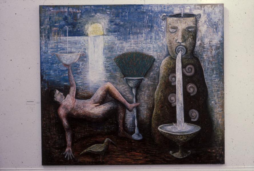 Sun Idol Oil 213 x244 Acrylic on Canvas 1985