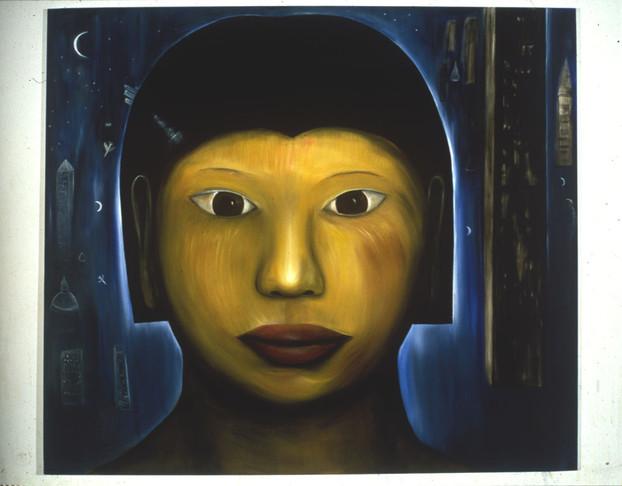Night Head 213 x 244cm Oil on Canvas 1994