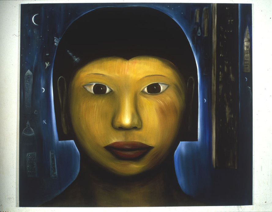 Night Head 213 x 244cm Oil on Canvas 1994