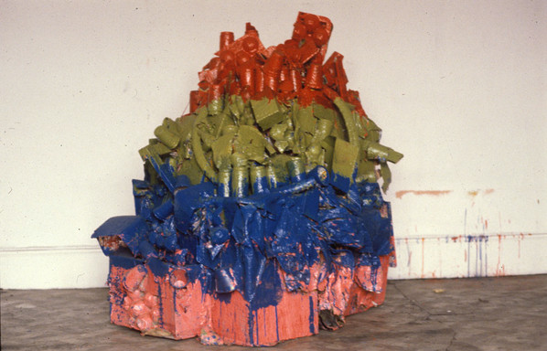 Untitled Sculpture 2M x 2M found material 1975