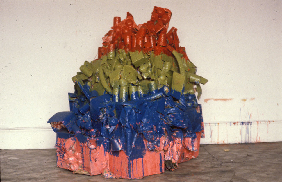 Untitled Sculpture 2M x 2M found material 1975