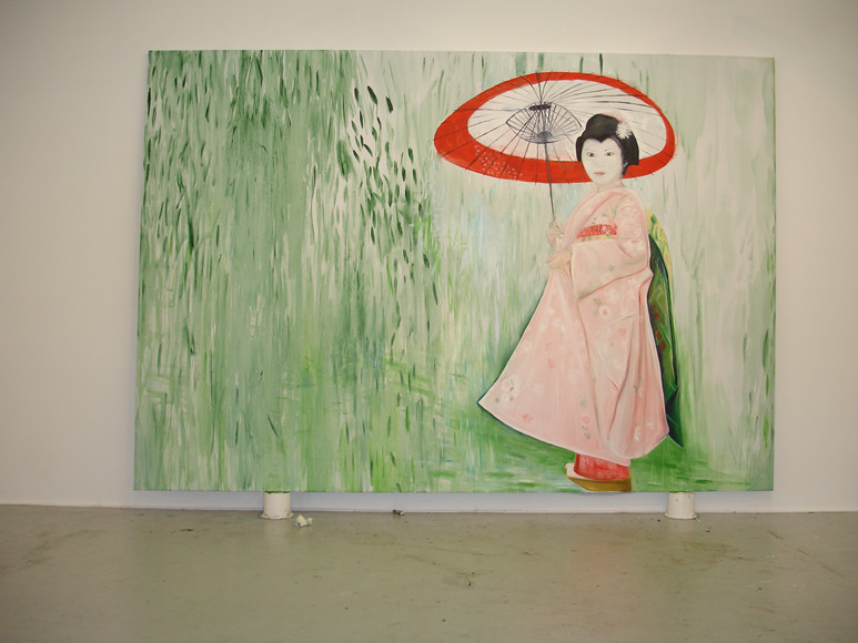 Parasol 244cm x 366cm oil on Canvas 2007