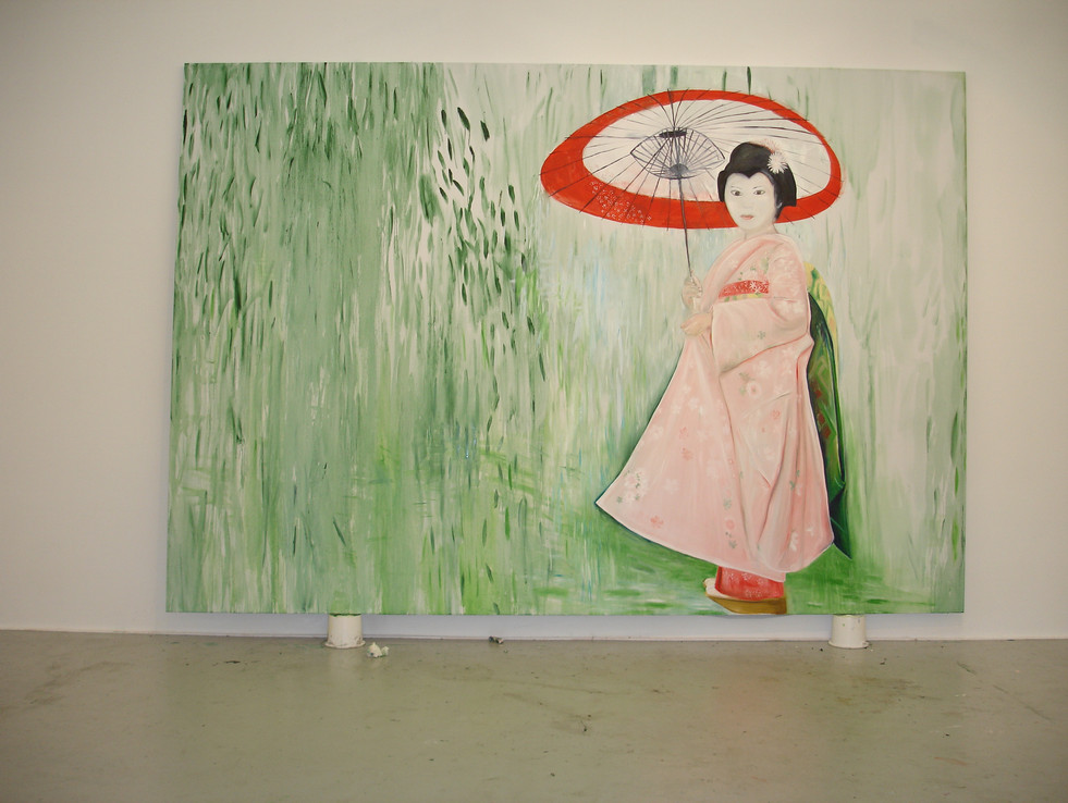 Parasol 244cm x 366cm oil on Canvas 2007