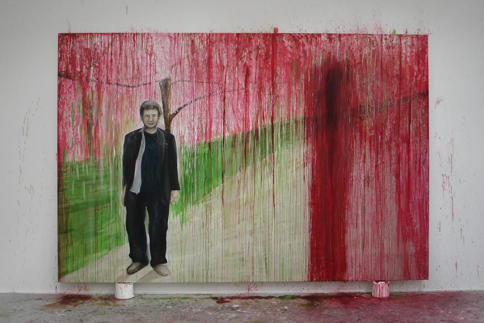 Bleeding Cherry Blossoms 365cm x 244cm Oil on Canvas 2012
