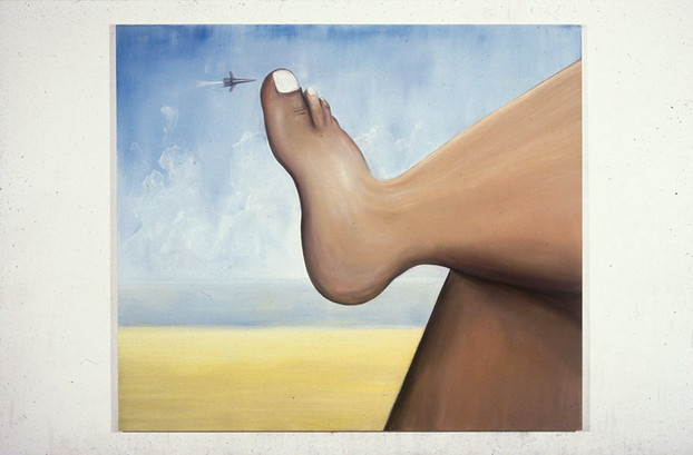 Foot in the Sky 213 x244 cm. Oil on Canvas 1995