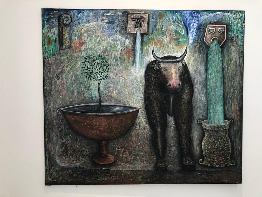 Bull 213 x 244cm Oil on Canvas 1985