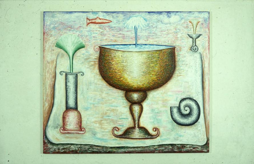 Chalice 183cm x 214cm Acrylic on Canvas 1982