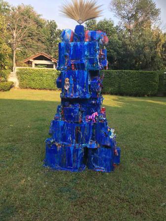 Down to the River, Sculpture 250cm x100cm x100cm. 2017