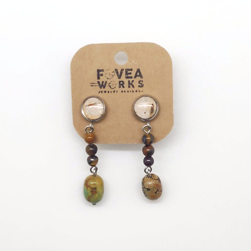 Fovea Works Birch Bark Earrings
