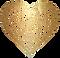 Flower heart gold fine transparent small