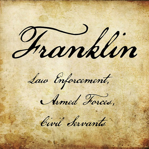 """""""Thanks For Your Service"""" Franklin Membership"""