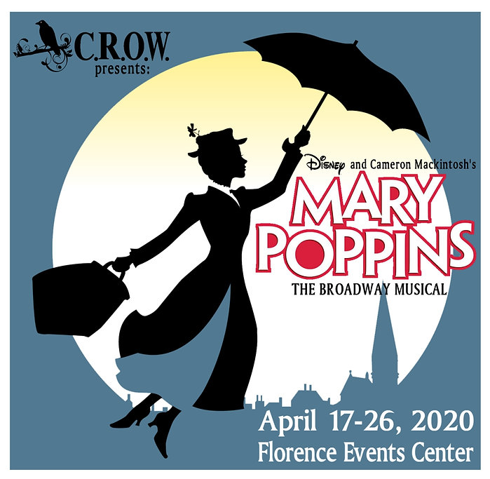 Mary Poppins Tshirt Front and Square Log