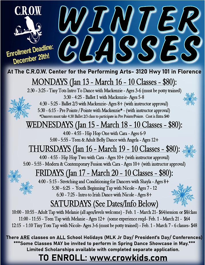 Winter 2020 Dance Classes at C.R.O.W. Po
