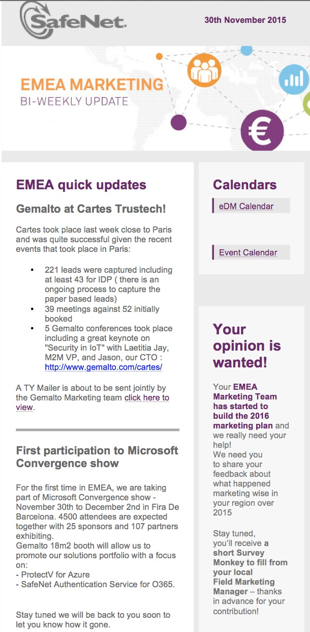 EMEA Weekly Newsletter-Dec 2015