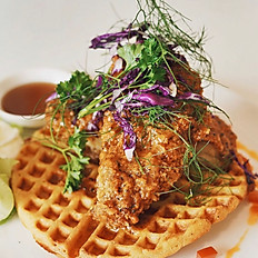 Mexican Chicken and Waffle