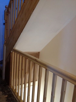New handrails & spindles on landing