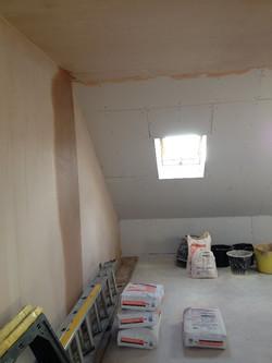 Plastering over plasterboard