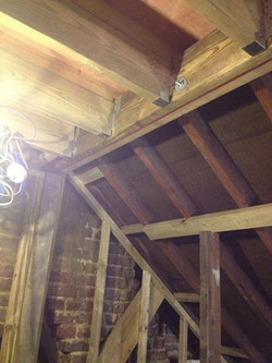 Original roof to front and new beams