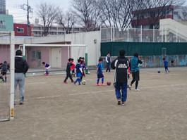 親子サッカー&蹴り納め