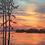 Thumbnail: Red Sunset at Lake Murray