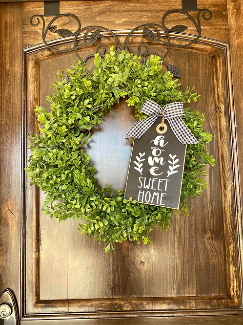 Extra Small Home Sweet Home Wreath Snuggler and Wreath