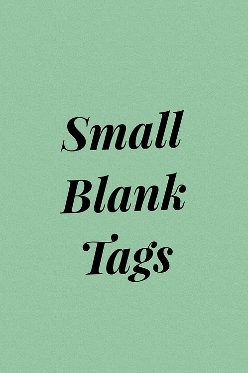 Small blank tags
