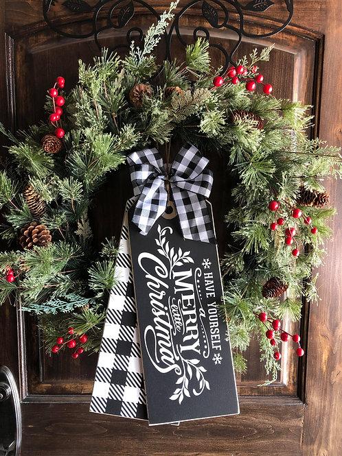 Merry Little Christmas Black/White