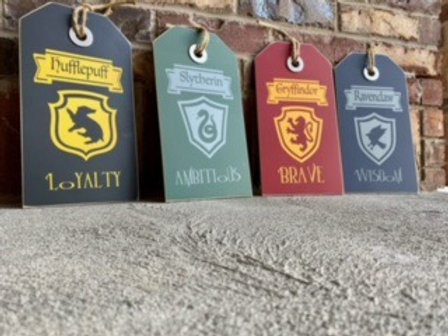 Small Harry Potter House Tags