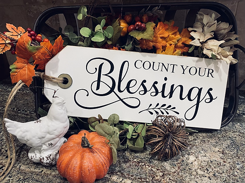 Count your Blessings Large Shelf Sitter