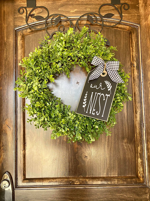 Extra Small our Nest Wreath Snuggler and Wreath.