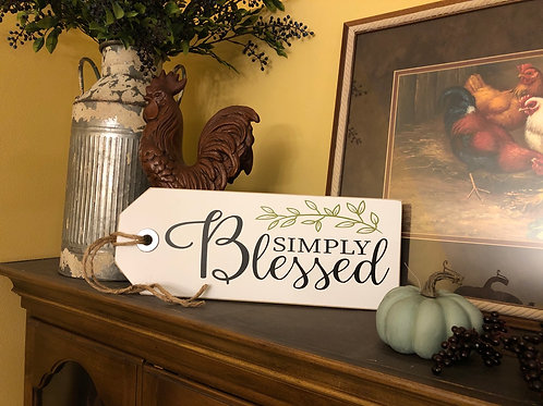 Simply Blessed (shelf sitter)