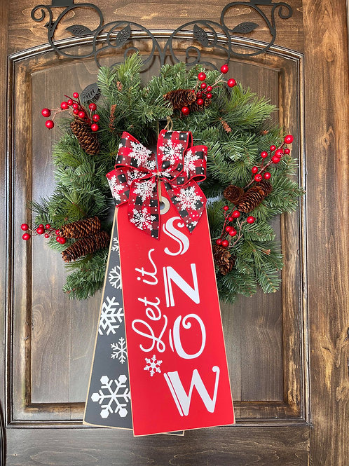Let it Snow (Black and Red)