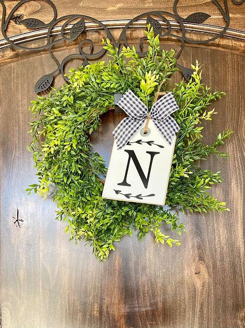 Mini Monogram Wreath Snuggler and Beauty Wreath