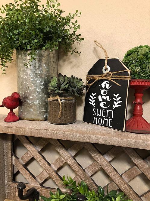 Black Mini Home Sweet Home Shelf Sitter