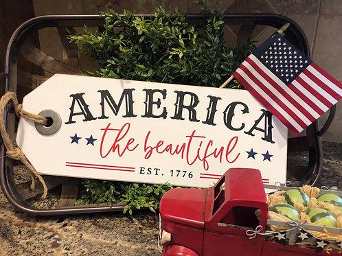 America the Beautiful Shelf Sitter
