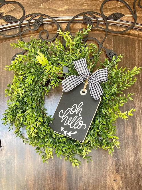 Mini oh Hello Wreath Snuggler and Wreath