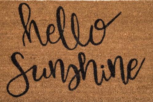 """Hello Sunshine"" welcome mat"