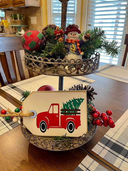 Little Red Truck (Mini Shelf SItter)