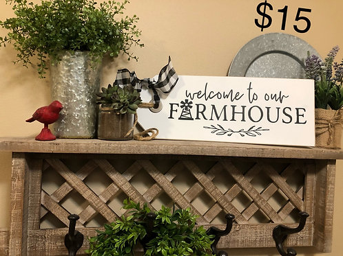 Welcome to our Farmhouse Shelf Sitter