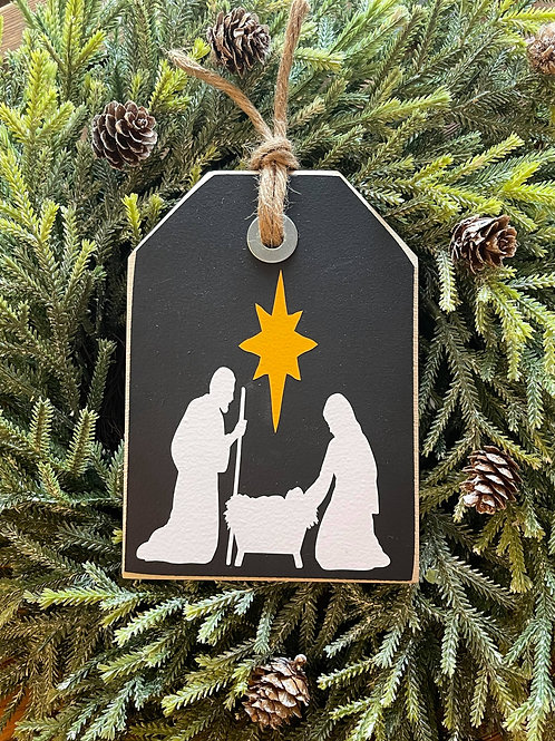 Nativity (Black Mini Shelf Sitter)