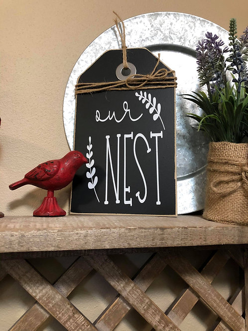 Black Extra Small Our Nest Shelf Sitter