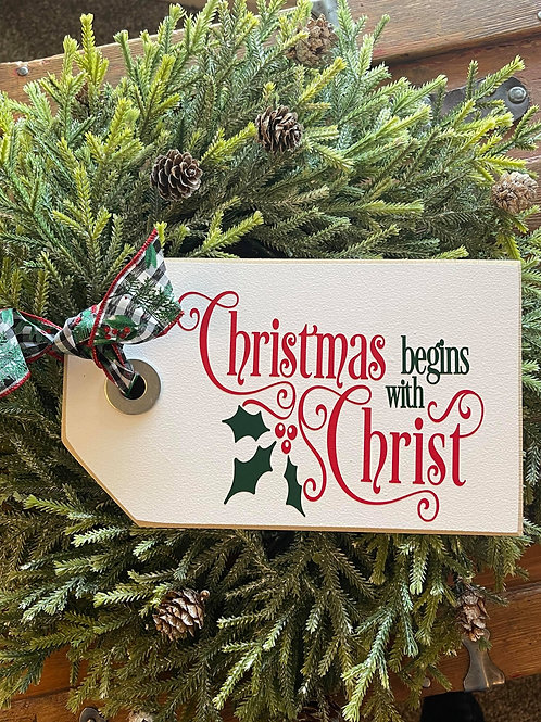 Christmas Begins with Christ (Ex Small Shelf Sitter)