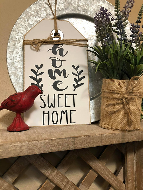 White Extra Small Home Sweet Home Shelf Sitter