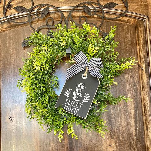 Mini Home Sweet Home Wreath Snuggler and Wreath