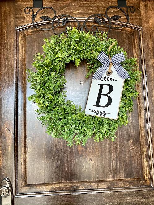 Extra Small Monogram Wreath Snuggler and Wreath
